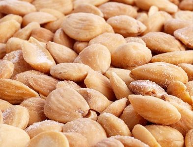 Fried blanched organic almonds