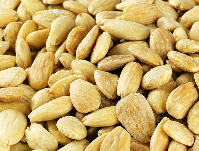 Toasted blanched organic almonds
